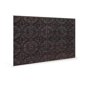 18.5'' x 24.3'' Empire Decorative 3D PVC Backsplash Panels in Smoked Pewter 12-Pieces