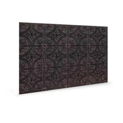 18.5'' x 24.3'' Empire Decorative 3D PVC Backsplash Panels in Smoked Pewter 1-Piece