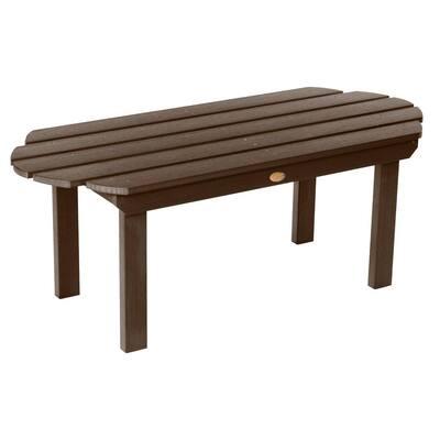 Classic Westport Weathered Acorn Rectangular Plastic Outdoor Accent Table