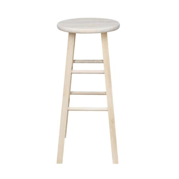 In Unfinished Wood Bar Stool 1s 530, Unfinished Furniture Stools