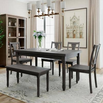 Gray Dining Room Sets Kitchen Furniture The Home Depot