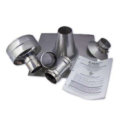 3 in. x 1 in. Vertical Stainless Steel Vent Kit