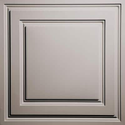 Oxford Latte 2 ft. x 2 ft. Lay-in Ceiling Panel (Case of 6)