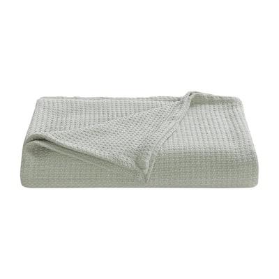 Bahama Coast Grey Woven-Cotton Full/Queen Blanket