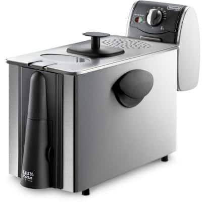 Dual Zone 4L Stainless Steel Deep Fryer with Easy Clean Drain System