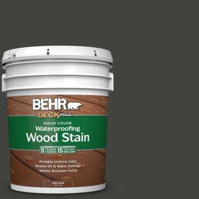 5 gal. #SC-102 Slate Solid Color Waterproofing Exterior Wood Stain