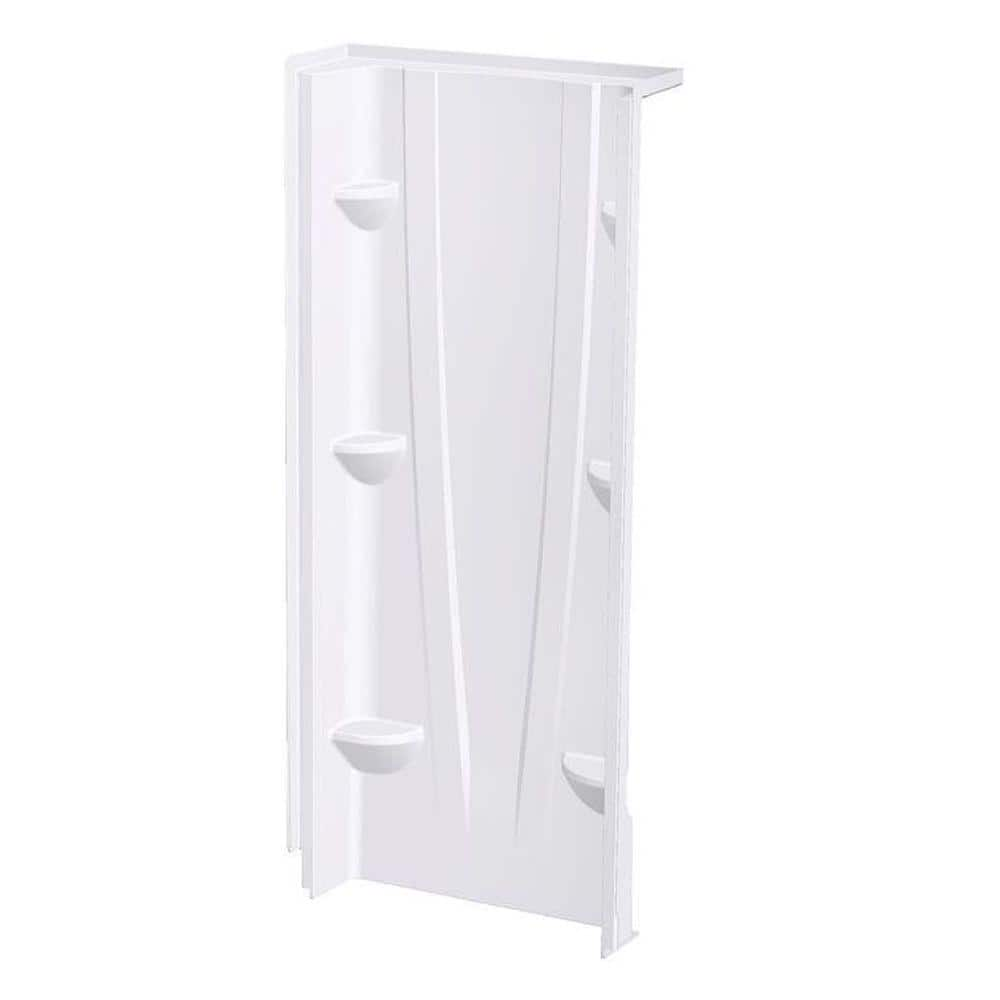 Aquatic A2 8 In X 32 In X 74 In 1 Piece Direct To Stud Shower Wall Panel In White 3274cbw Aw The Home Depot