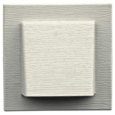 8 in. x 7.875 in. Water Management 4 in. Hooded Vent in #034 Parchment