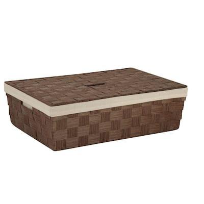 23.5 in. x 6.5 in. Brown Paper Rope Underbed Basket