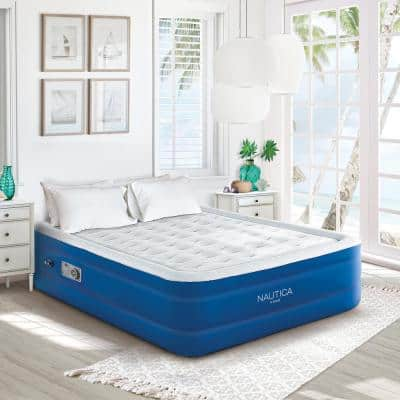 """Nautica Home Support Aire 18"""" Queen Air Mattress with Inset Pump"""