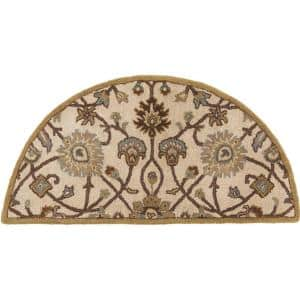 Albi Taupe 2 ft. x 4 ft. Hearth Indoor Area Rug