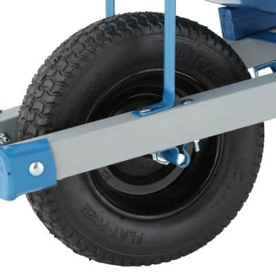 6 cu. ft. Heavy Gauge Seamless Steel Wheelbarrow with Steel Handles