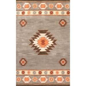 Shyla Abstract Sage 8 ft. x 10 ft. Area Rug