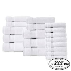 Egyptian Cotton 18-Piece Towel Set in White