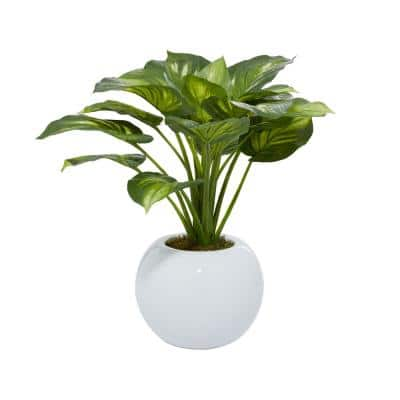 Indoor Green Glass Natural Plant Artificial Foliage