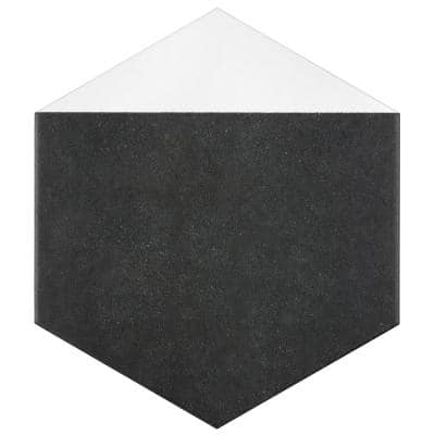 Peak Hex Blanco Encaustic 8-5/8 in. x 9-7/8 in. Porcelain Floor and Wall Tile (11.56 sq. ft. / case)