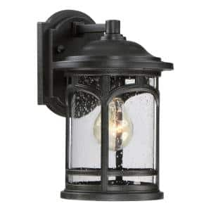 Marblehead 1-Light Black Outdoor Wall Lantern Sconce