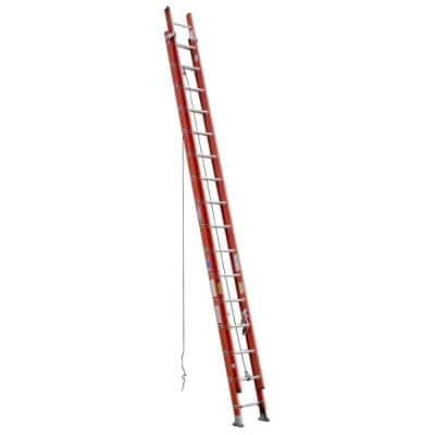 32 ft. Fiberglass Extension Ladder with 300 lbs. Load Capacity Type IA Duty Rating