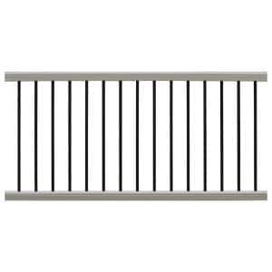 Ultrashield Hemispheres 36 in. x 3 in. x 6 ft. Roman Antique Composite Railing Kit