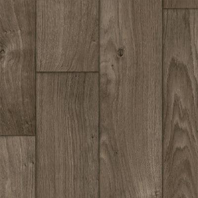 Take Home Sample - Ash Brown Oak Residential Sheet Vinyl Flooring - 6 in. x 9 in.