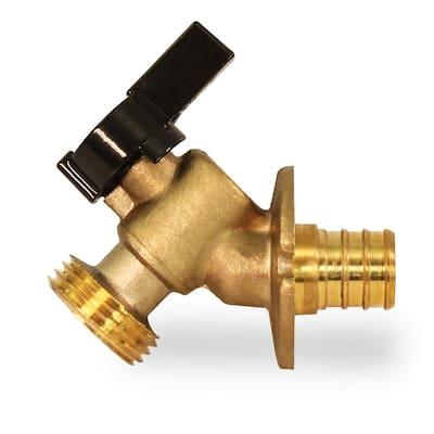 3/4 in. Pex Inlet x 3/4 in. MHT Outlet Quarter Turn Sillcock Hose Bibb; Cast Brass