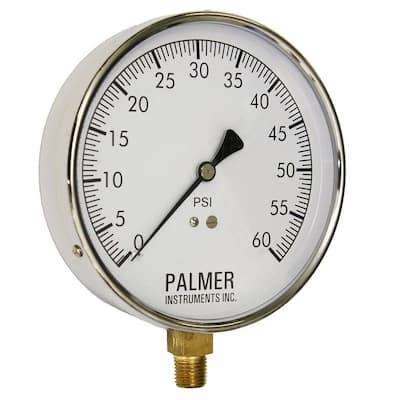 4.5 in. Dial 60 psi Stainless Steel Case Contractor Gauge