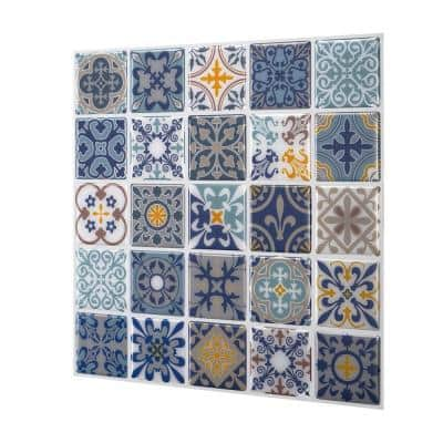 Moroccan Rano 10 in. W x 10 in. H Peel and Stick Decorative Mosaic Wall Tile Backsplash (10 Tiles)