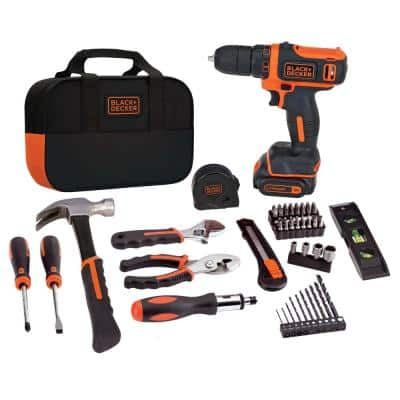 12-Volt MAX Lithium-Ion Cordless Project Kit (57-Piece) with Battery 1.5Ah, Charger and Tool Bag