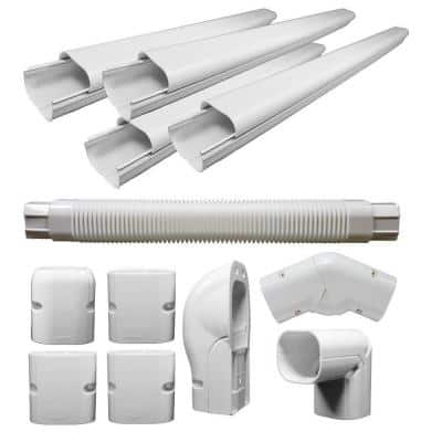 4 in. x 3 in. Decorative PVC Line Cover Kit For Mini Split Air Conditioners and Heat Pumps