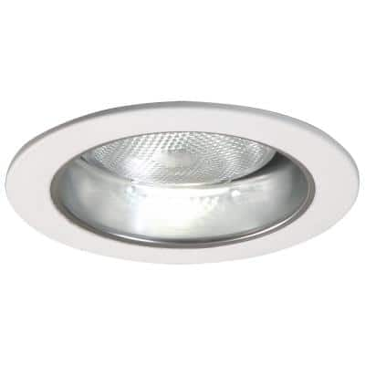 5 in. Clear Recessed Ceiling Light with Specular Reflector Cone with White Trim