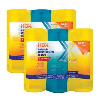 35-Count Fresh Scent and Lemon Scent Disinfecting Wipes (6-Pack)