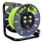 80 ft. 13 Amp 14 /3 Large Open Cable Reel with 4-Sockets