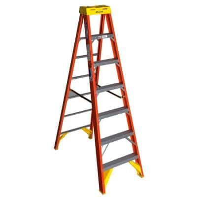7 ft. Fiberglass Step Ladder with 300 lb. Load Capacity Type IA Duty Rating