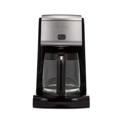 12-Cup Black FrontFill Coffee Maker with Glass Carafe
