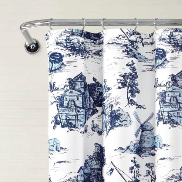 Lush Decor 72 In X French, Country Decor Shower Curtains