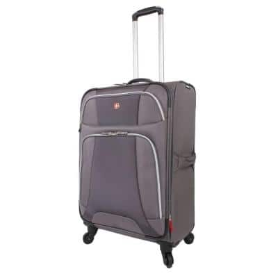 Monte Leone 24.5 in. Grey Spinner Suitcase