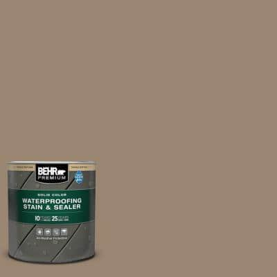 1 qt. #SC-153 Taupe Solid Color Waterproofing Exterior Wood Stain and Sealer