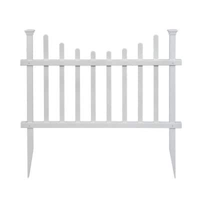 2.5 ft. H x 3.5 ft W Washington Vinyl Picket Fence Panel Kit (2-Pack)