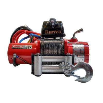 9,500 lbs. Capacity Short Drum 12-Volt Off-Road Electric Winch with 45 ft. Steel Cable