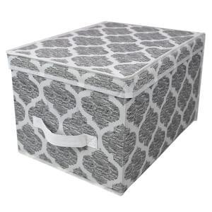 Arabesque 11.8 in. D x 15.75 in. W x 10 in. H Fabric Storage Box