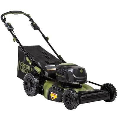 22 in. Cutting Width 62-Volt Cordless RWD Self Propelled 3-in-1 High Wheel Walk Behind Mower, 4Ah Battery And Charger
