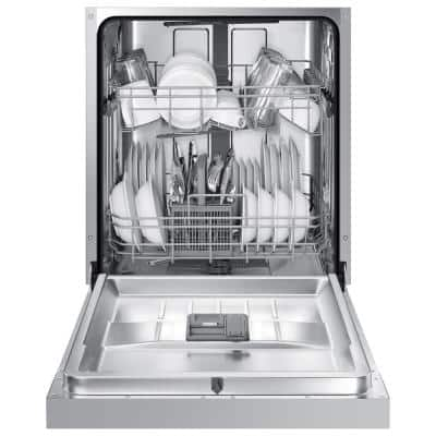 24 in. Front Control Tall Tub Dishwasher in Stainless Steel with Stainless Steel Tub, ADA Compliant, 52 dBA