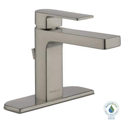 Xander Single Hole Single-Handle Bathroom Faucet in Brushed Nickel