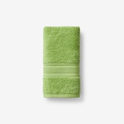 Company Cotton Field Green Solid Turkish Cotton Hand Towel