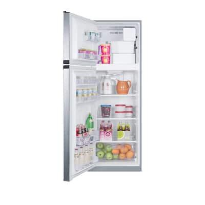 8.8 cu. ft. Top Freezer Refrigerator in Stainless Steel, Counter Depth