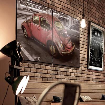 "27.5 in. x 40 in. ""Retro Car"" Printed Wall Art"