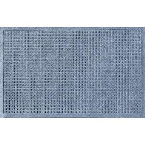 Aqua Shield Squares 23 in. x 35 in. PET Polyester Doormat Bluestone