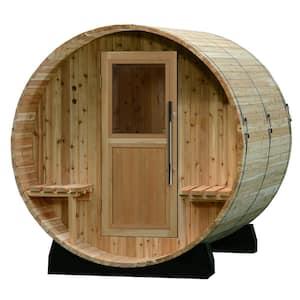 Audra Cedar 4 Person Electric Canopy Barrel Sauna