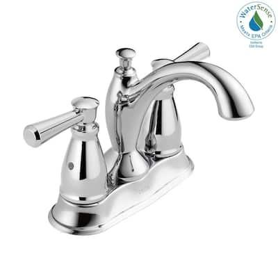 Linden 4 in. Centerset 2-Handle Bathroom Faucet in Chrome
