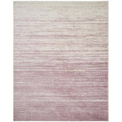 Adirondack Cream/Purple 8 ft. x 10 ft. Solid Area Rug